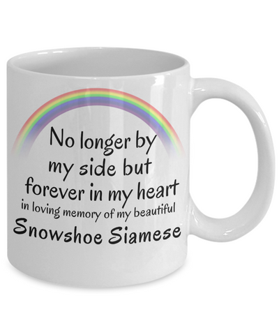 Image of Snowshoe Siamese Memorial Gift Cat Mug No Longer By My Side Pet Remembrance Gifts