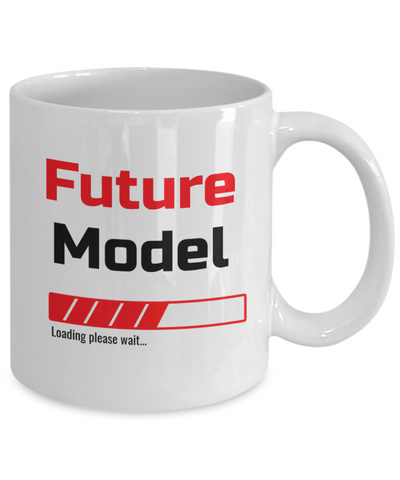 Image of Funny Future Model Loading Please Wait Ceramic Coffee Mug for Men and Women Novelty Birthday Christmas Gift