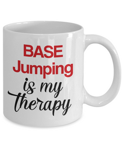 BASE Jumping Is My Therapy Mug Unique Novelty Birthday Gift Ceramic Coffee Cup