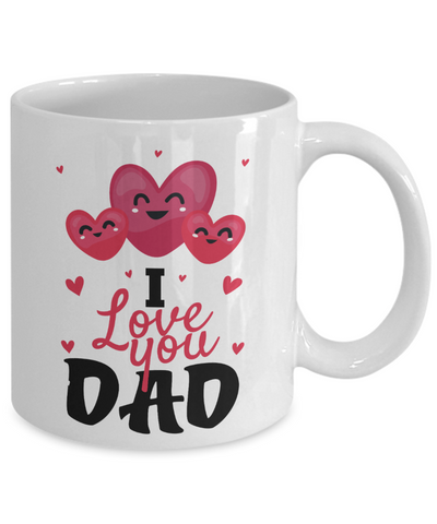 I Love You Dad Mug Father's Day Novelty Birthday Gift Ceramic Coffee Cup