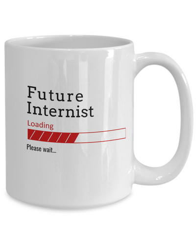 Image of Funny Future Internist Loading Please Wait Ceramic Coffee Mug Doctors In Training Gifts for Men and Women