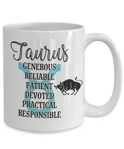 Taurus Zodiac Mug Gift Fun Novelty Birthday Coffee Cup
