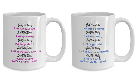 Reiki Prayer Coffee Mug Gift 5 Principles of Reiki Gift Coffee Mug Positive Mantra Gift Cup Novelty Coffee Mug Gift set