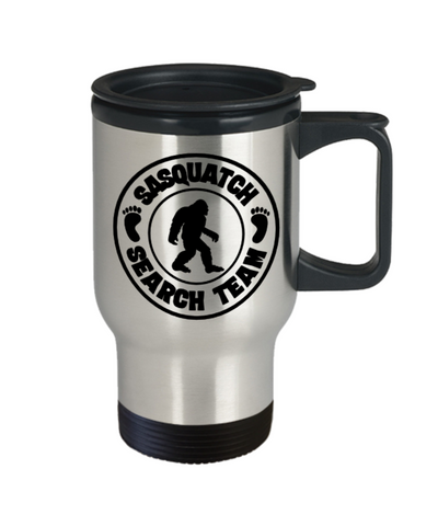 Image of Sasquatch Hunters Search Team Coffee Travel Mug Bigfoot Coffee Cup Big Foot