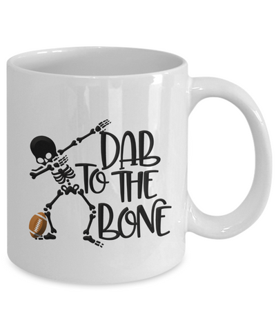 Sports Coffee Mug Skeleton Dabbing Football Dab to the Bone Funny Ceramic Teacup Football Player Gift