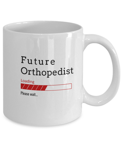 Image of Funny Future Orthopedist Loading Please Wait Coffee Mug Gifts for Men  and Women Ceramic Tea Cup