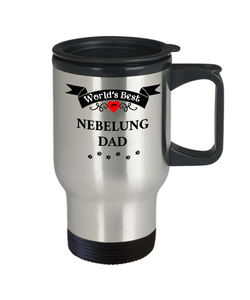 World's Best Nebelung Dad Cup Unique Cat Travel Coffee Mug With Lid Gifts for Men