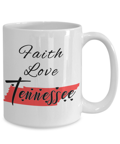 Image of Patriotic USA Gift Mug Faith Love South Dakota Unique Novelty Birthday Christmas Ceramic Coffee Tea Cup