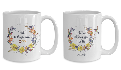"Image of Stunning Scripture Gifts, ""With God all things are possible"" and ""Faith is All You Need""Gift set"