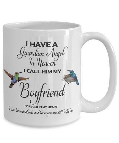 Image of Boyfriend Memorial Gift I Have a Guardian Angel ... Boyfriend Remembrance Gifts