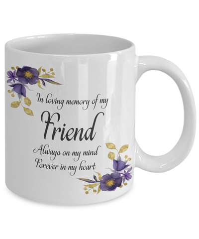 Image of In Loving Memory Friend Mug Sympathy Gift Remembrance Memorial Coffee Cup