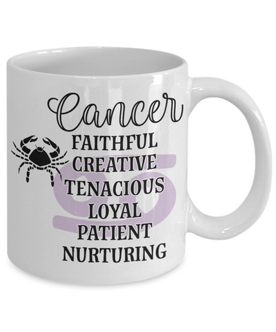 Image of Cancer Zodiac Mug Gift Fun Novelty Birthday Coffee Cup