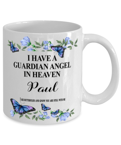 Image of Paul Memorial Mug 11 oz In Loving Memory Mourning Emotional Support Cup