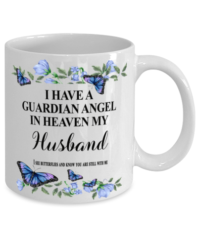 Image of Husband Memorial Mug 11 oz In Loving Memory Mourning Emotional Support Cup