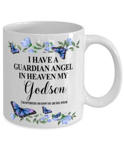 Godson Memorial Mug 11 oz In Loving Memory Mourning Emotional Support Cup