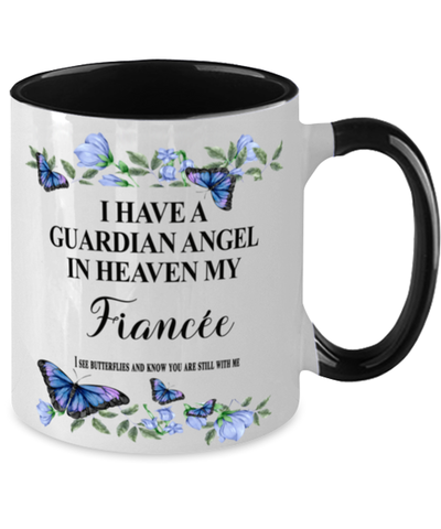 Fiancee Memorial Two-Toned Mug In Loving Memory Mourning Emotional Support Cup