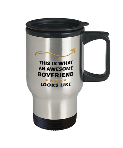 Image of Boyfriend Travel Mug  Awesome Person Looks Like 14 oz Coffee Cup