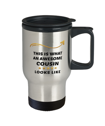 Image of Cousin Travel Mug  Awesome Person Looks Like 14 oz Coffee Cup
