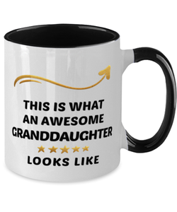 Granddaughter Mug  Awesome Person Looks Like 11 oz  Two-Toned Ceramic Coffee Cup