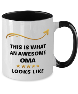 Oma Mug  Awesome Person Looks Like 11 oz  Two-Toned Ceramic Coffee Cup