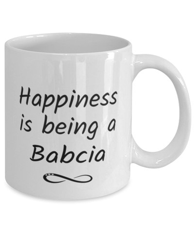 Image of Babcia Mug Happiness is Being 11oz Coffee Cup