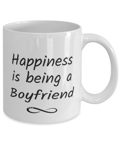 Boyfriend Mug Happiness is Being 11oz Coffee Cup