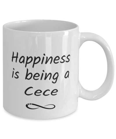Image of Cece Mug Happiness is Being 11oz Coffee Cup