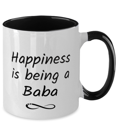 Baba Mug Happiness is Being 11oz Two-Toned Coffee Cup