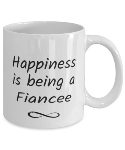Image of Fiancee Mug Happiness is Being 11oz Coffee Cup