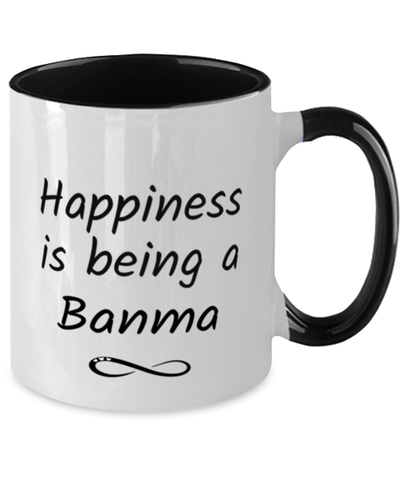 Image of Banma Mug Happiness is Being 11oz Two-Toned Coffee Cup