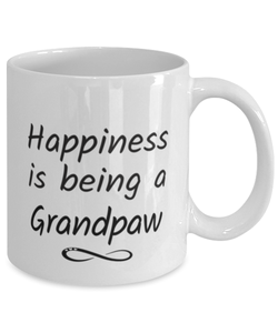 Grandpaw Mug Happiness is Being 11oz Coffee Cup