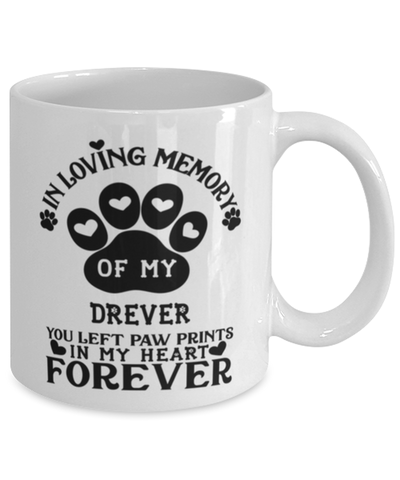 Drever Dog Mug Pet Memorial You Left Pawprints in My Heart Coffee Cup
