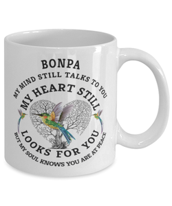 Bonpa In Loving Memory Mug Hummingbird My Mind Talks To You Memorial Keepsake Cup