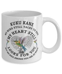 Kuku kane In Loving Memory Mug Hummingbird My Mind Talks To You Memorial Keepsake Cup
