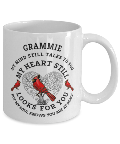 Grammie In Loving Memory Mug Cardinal My Mind Talks To You Memorial Keepsake Cup