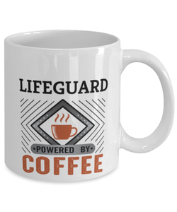 Lifeguard Mug Powered by Coffee Occupational 11oz Ceramic Cup
