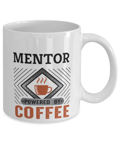 Image of Mentor Mug Powered by Coffee Occupational 11oz Ceramic Cup