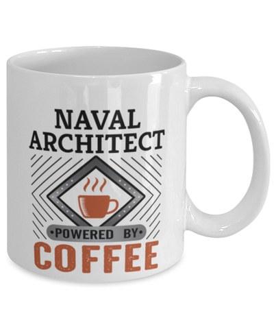 Image of Naval Architect Mug Powered by Coffee Occupational 11oz Ceramic Cup