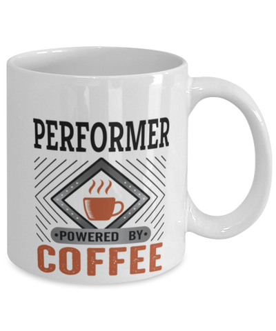 Image of Performer Mug Powered by Coffee Occupational 11oz Ceramic Cup