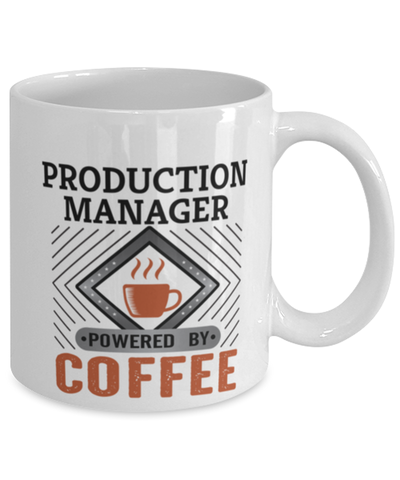 Image of Production Manager Mug Powered by Coffee Occupational 11oz Ceramic Cup