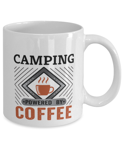 Image of Camping Mug Powered by Coffee Hobby 11oz Ceramic Cup