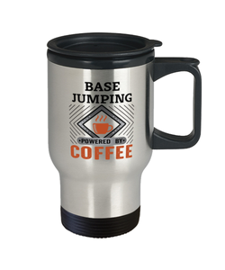 BASE Jumping Travel Mug Powered by Coffee Hobby 14 oz Cup