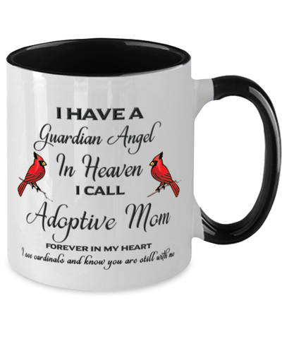 Adoptive Mom Memorial Cardinal Mug Guardian Angel Remembrance Two-Tone Sympathy Cup