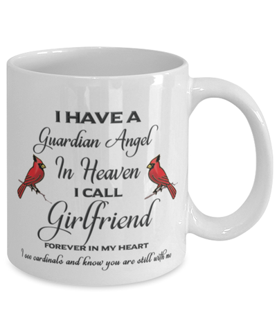 Image of Girlfriend Memorial Cardinal Mug Guardian Angel Remembrance Sympathy Keepsake