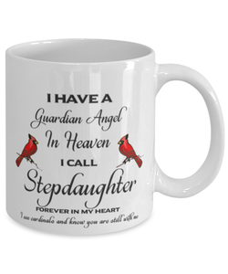 Stepdaughter Memorial Cardinal Mug Guardian Angel Remembrance Sympathy Keepsake