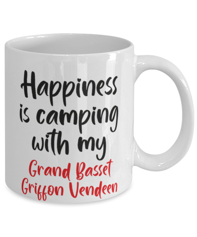 Image of Grand Basset Griffon Vendeen Mug Happiness is Camping With My Dog Coffee Cup