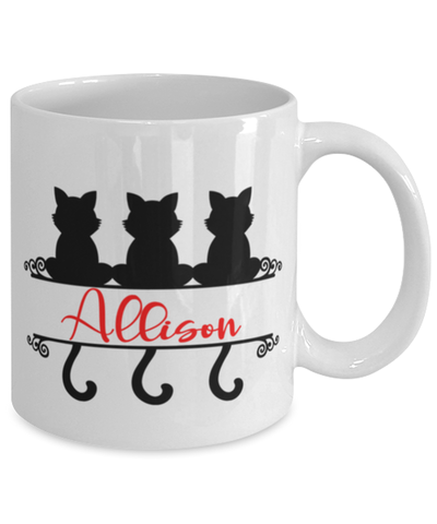 Allison Cat Lady Mug Personalized Funny Feline Mom Coffee Cup