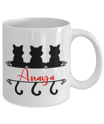 Anaya Cat Lady Mug Personalized Funny Feline Mom Coffee Cup