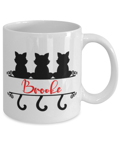 Brooke Cat Lady Mug Personalized Funny Feline Mom Coffee Cup