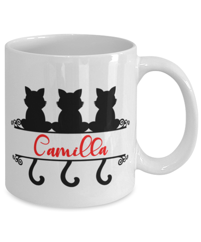 Camilla Cat Lady Mug Personalized Funny Feline Mom Coffee Cup